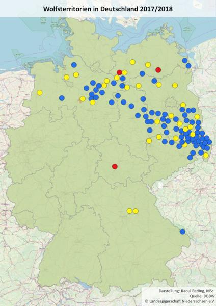 Wölfe In Brandenburg Karte.Wolfsmonitoring Wolfsverbreitung In Deutschland